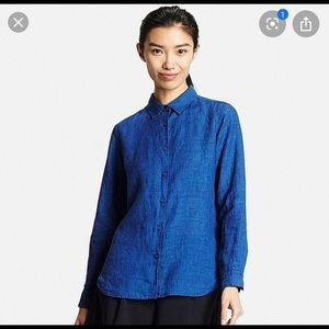 Uniqlo 100% Linen Women's buttoned shirt Medium